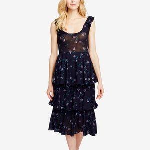 Rachel Rachel Roy Navy Floral Tiered Midi Dress